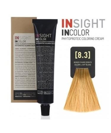 INSIGHT Fitoproteinowy krem koloryzujący 8.3 Golden, Light Blond 100 ml