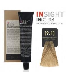 Fitoproteinowy krem koloryzujący 9.1 ash, very light blond INSIGHT 100g