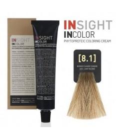 INSIGHT Fitoproteinowy krem koloryzujący 8.1 Ash, Light Blond 100 ml