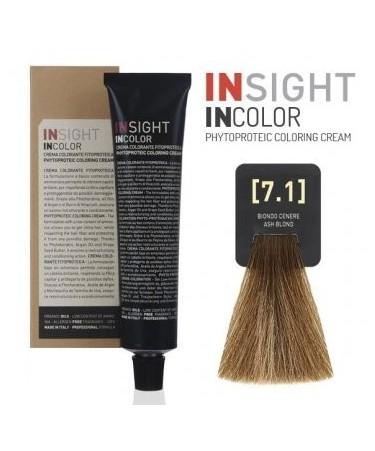 INSIGHT Fitoproteinowy krem koloryzujący 7.1 Ash Blond 100 ml