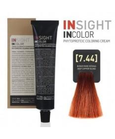 Fitoproteinowy krem koloryzujący 7.44 deep coppery, blond INSIGHT 60g