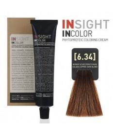 Fitoproteinowy krem koloryzujący 6.34 golden copper, dark blond INSIGHT 60g