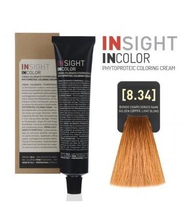 Fitoproteinowy krem koloryzujący 8.34 golden copper, light blond INSIGHT 60g