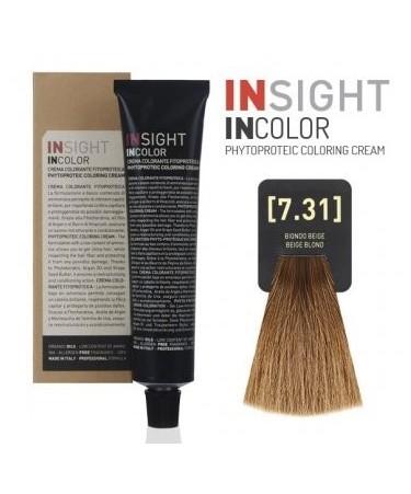 INSIGHT Fitoproteinowy krem koloryzujący 7.31 Beige, Blond 100 ml