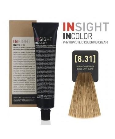 INSIGHT Fitoproteinowy krem koloryzujący 8.31 Beige, Light Blond 100 ml
