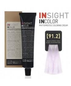Fitoproteinowy krem koloryzujący 91.2 blond, super bleaching pearl INSIGHT 60g
