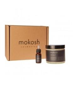 MOKOSH ICON - zestaw peeling solny do ciała wanilia z tymiankiem 300 g + serum do ciała wanilia z tymiankiem 10 ml